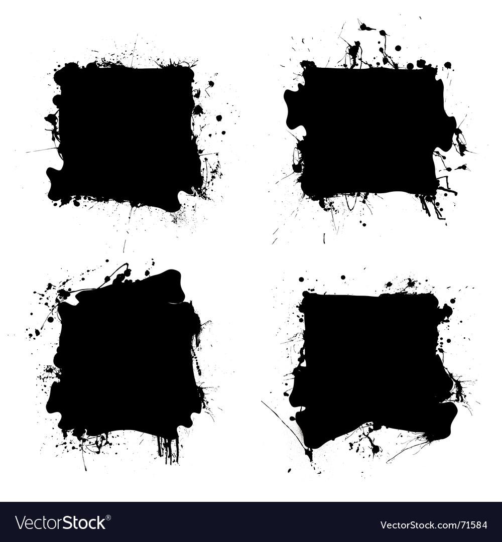 Square black ink splat vector | Price: 1 Credit (USD $1)
