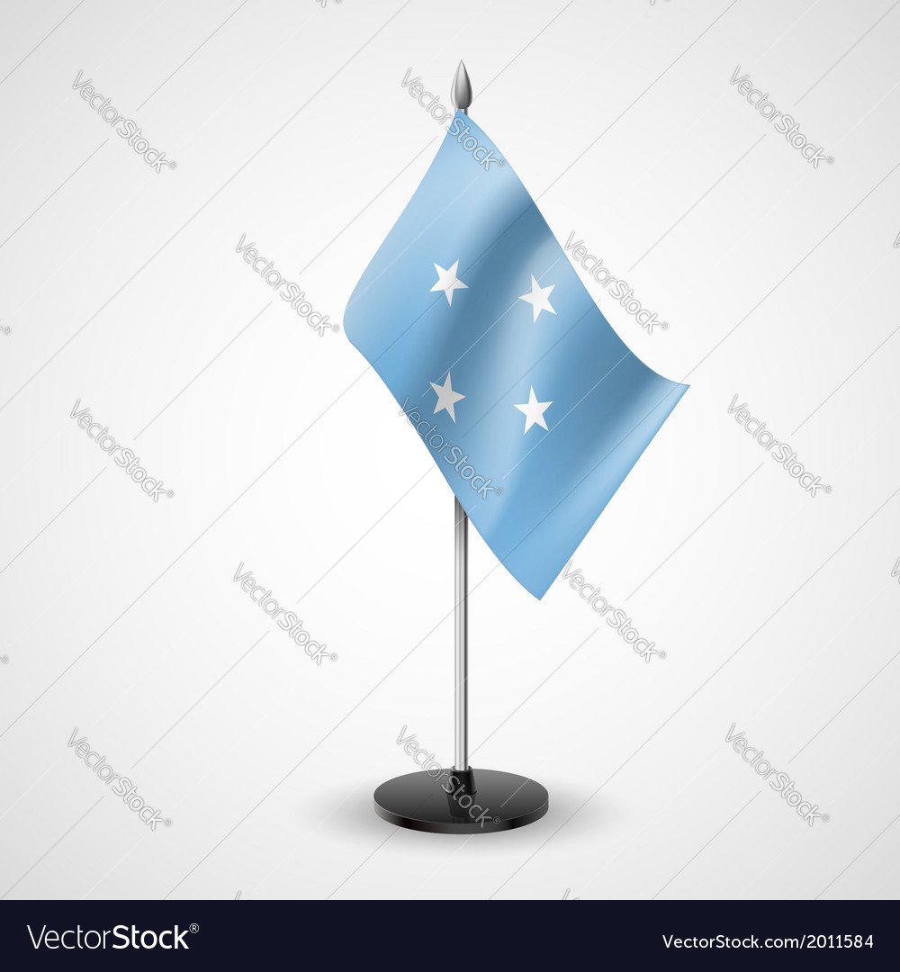 Table flag of federated states of micronesia vector | Price: 1 Credit (USD $1)