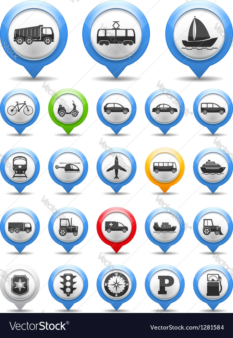Transport icons vector | Price: 3 Credit (USD $3)