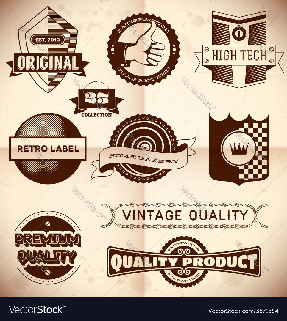 Vintage labels collection 23 vector | Price: 1 Credit (USD $1)