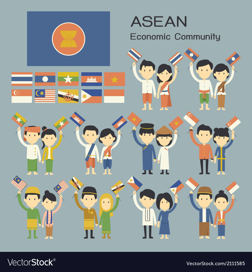 Asean vector | Price: 1 Credit (USD $1)
