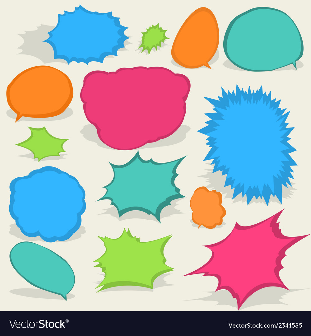 Colorful different speech bubbles eps8 vector | Price: 1 Credit (USD $1)