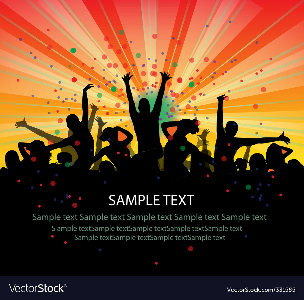Dance party flyer vector | Price: 1 Credit (USD $1)