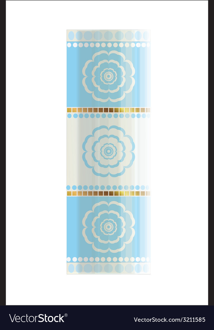 The flower cylinder vector | Price: 1 Credit (USD $1)