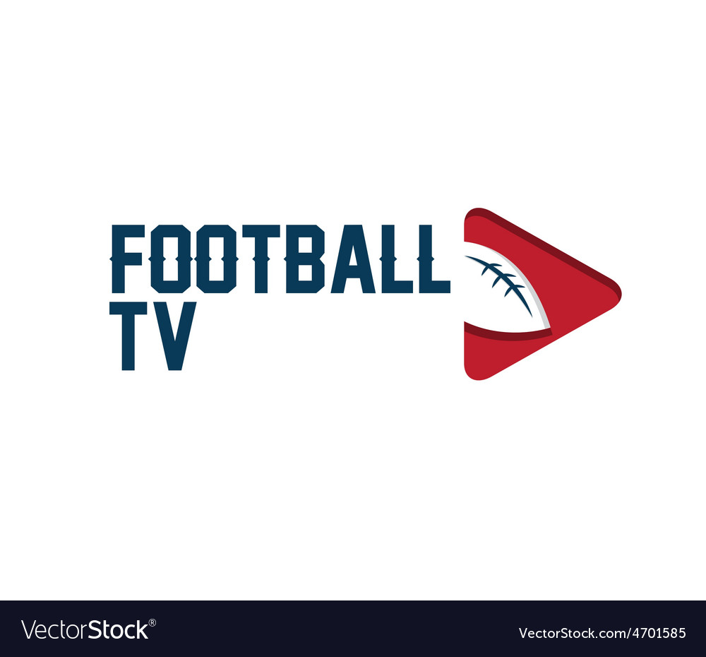 Football tv vector | Price: 1 Credit (USD $1)