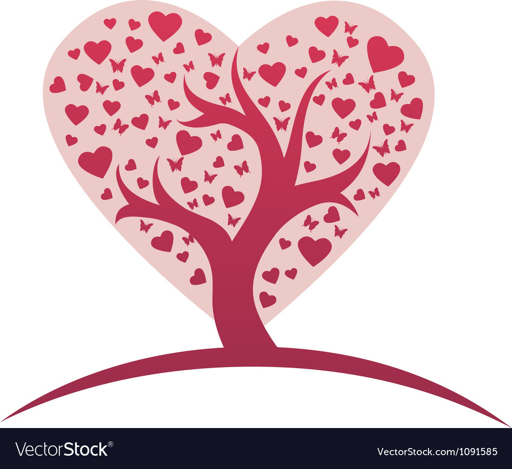 Heart tree pic vector | Price: 1 Credit (USD $1)