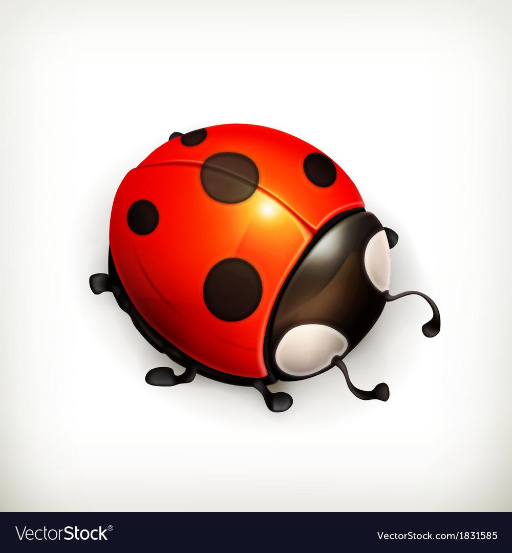 Ladybug icon vector | Price: 1 Credit (USD $1)