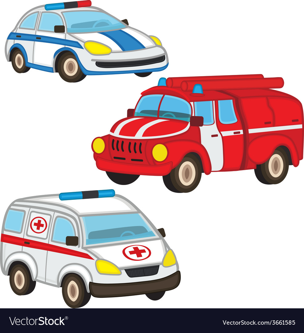 Police fire ambulance vector | Price: 1 Credit (USD $1)