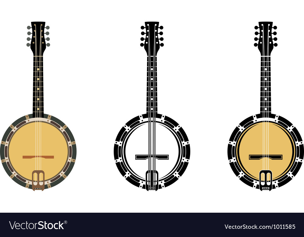 Set from a musical instrument banjo vector | Price: 1 Credit (USD $1)