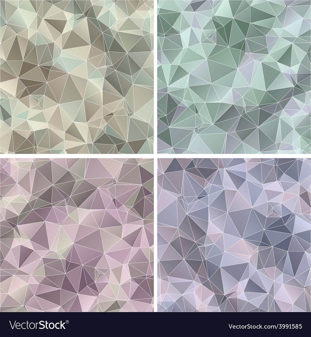 Set of triangle abstract backgrounds vector | Price: 1 Credit (USD $1)