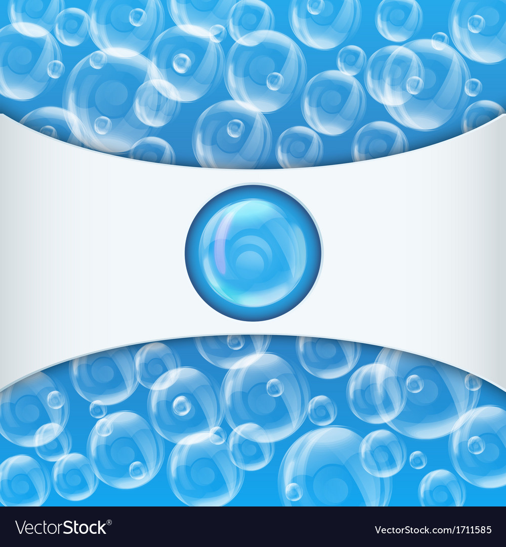 Spa aqua jacuzzi background with soap bubbles vector | Price: 1 Credit (USD $1)