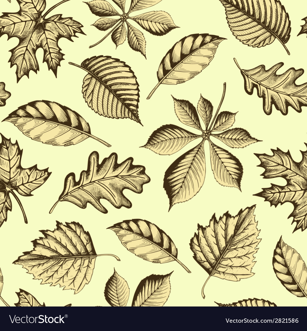 Autumn leaves seamless texture vector | Price: 1 Credit (USD $1)