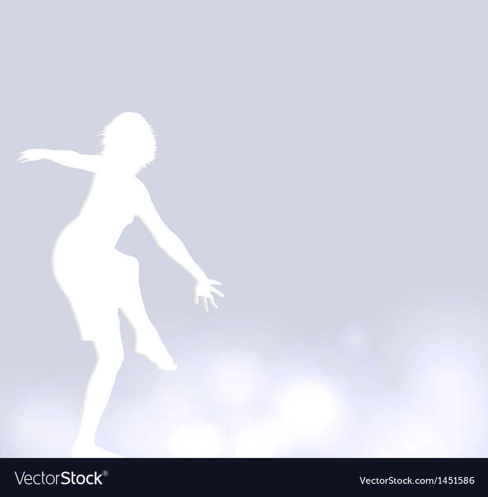 Background with a dancer vector | Price: 1 Credit (USD $1)