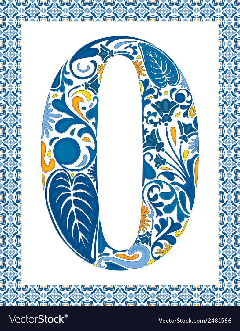 Blue number 0 vector | Price: 1 Credit (USD $1)