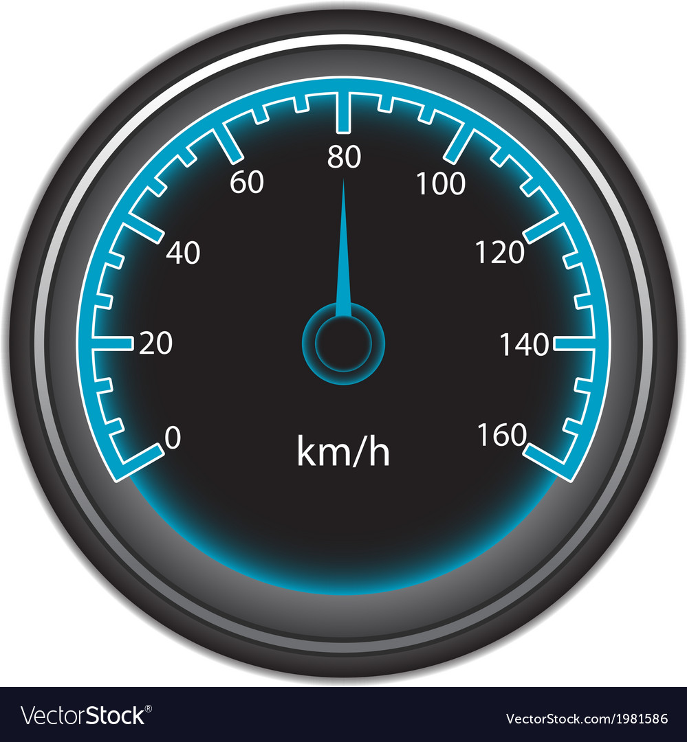 Blue speedometer vector | Price: 1 Credit (USD $1)