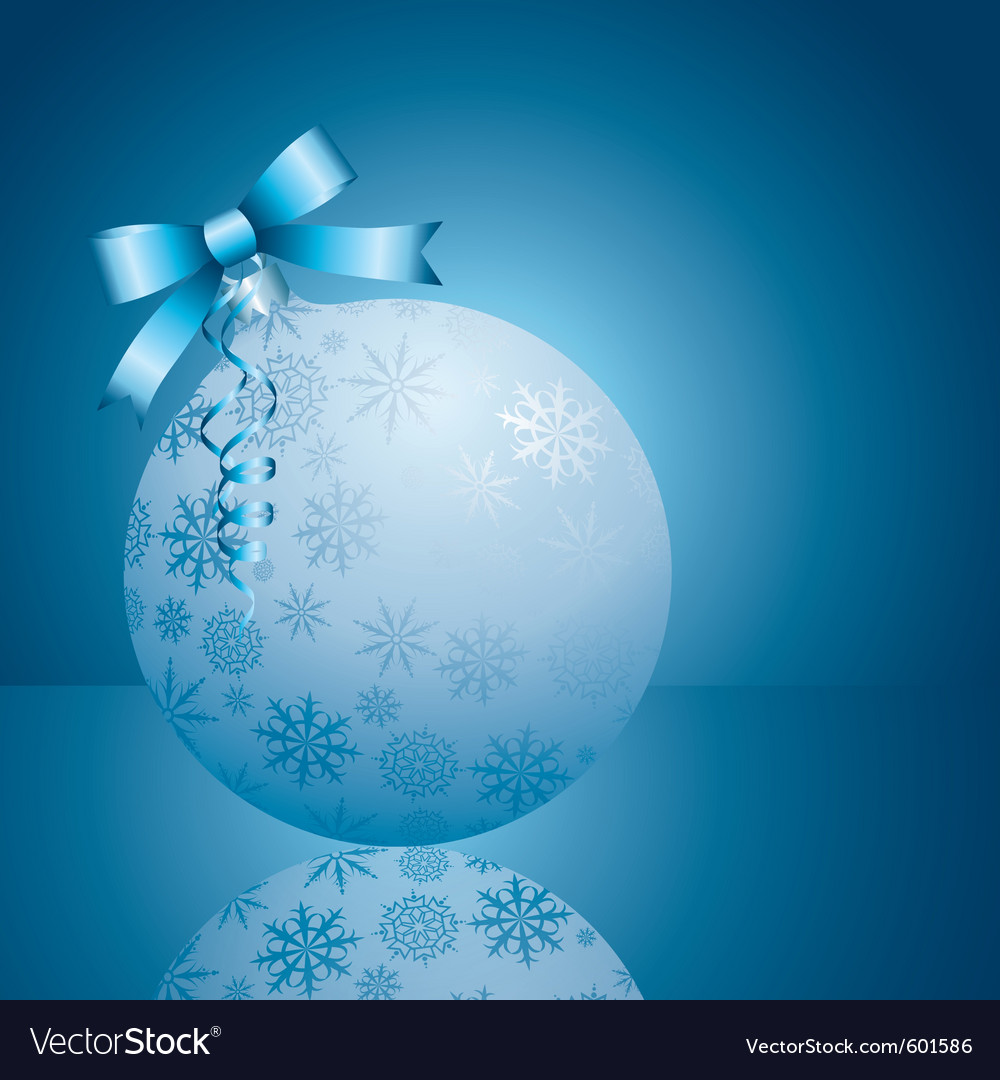 Blue xmas ball vector | Price: 1 Credit (USD $1)