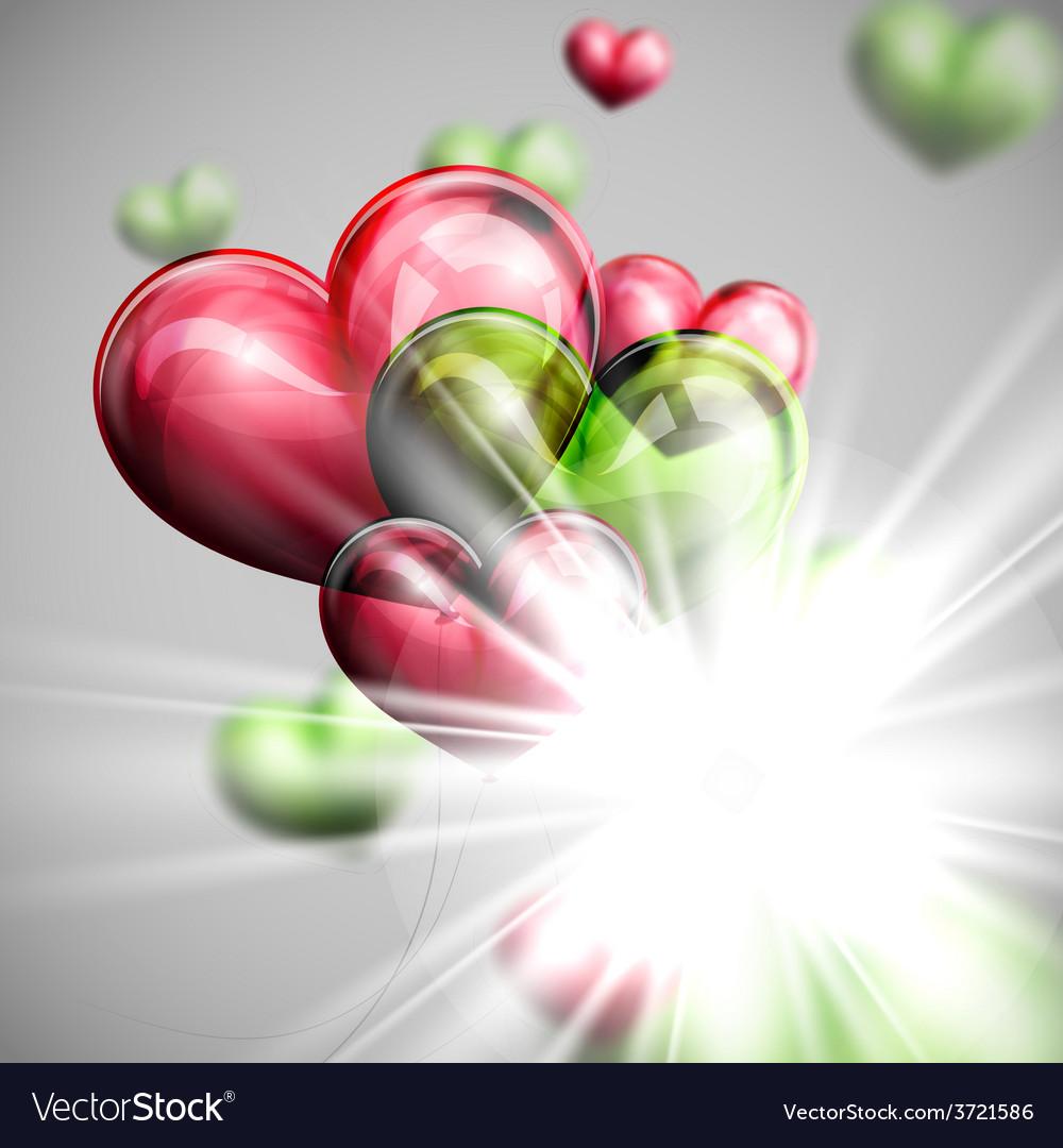 Bunch of multicolored balloon hearts vector   Price: 1 Credit (USD $1)