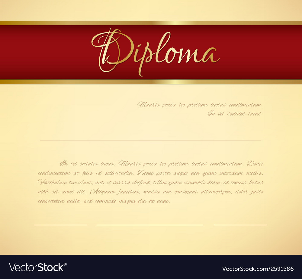 Diploma background vector | Price: 1 Credit (USD $1)