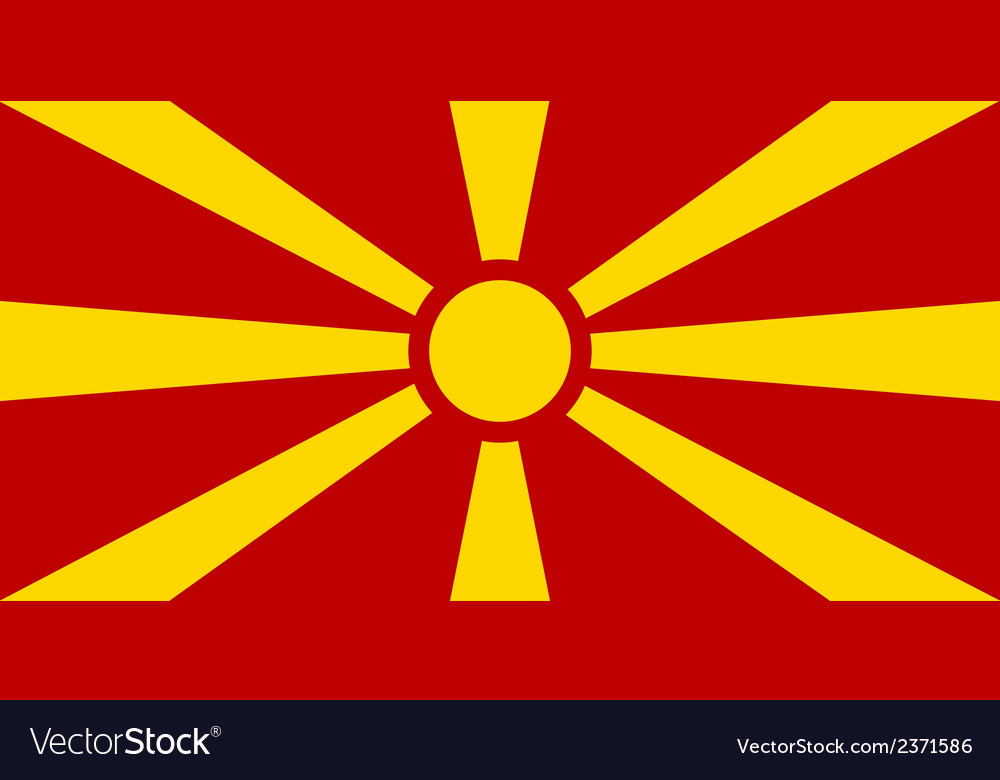 Flag of macedonia vector | Price: 1 Credit (USD $1)