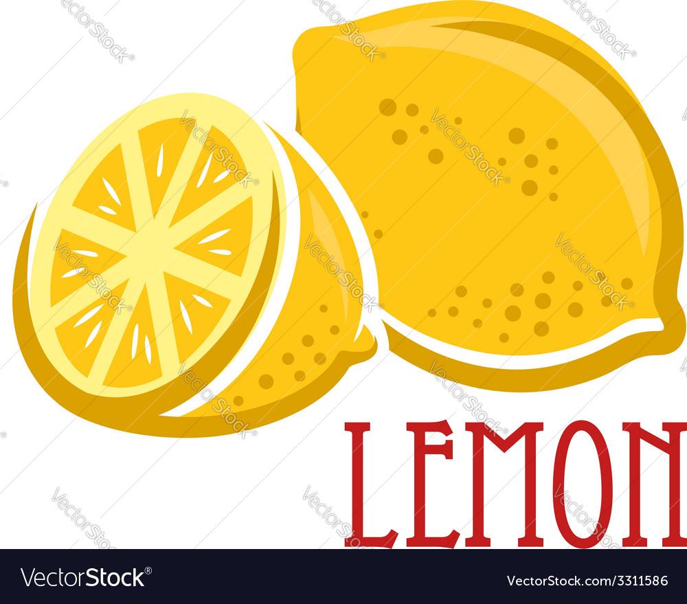 Lemon fruit symbol vector | Price: 1 Credit (USD $1)