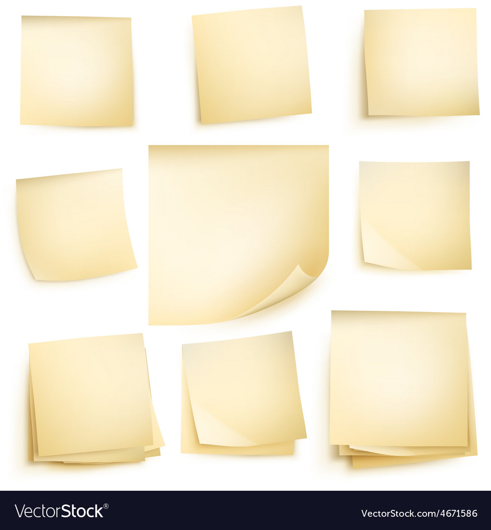 Paper notes isolated eps 10 vector | Price: 3 Credit (USD $3)