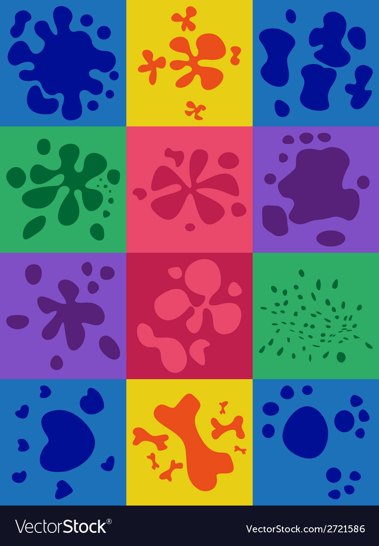 Set of blots vector | Price: 1 Credit (USD $1)