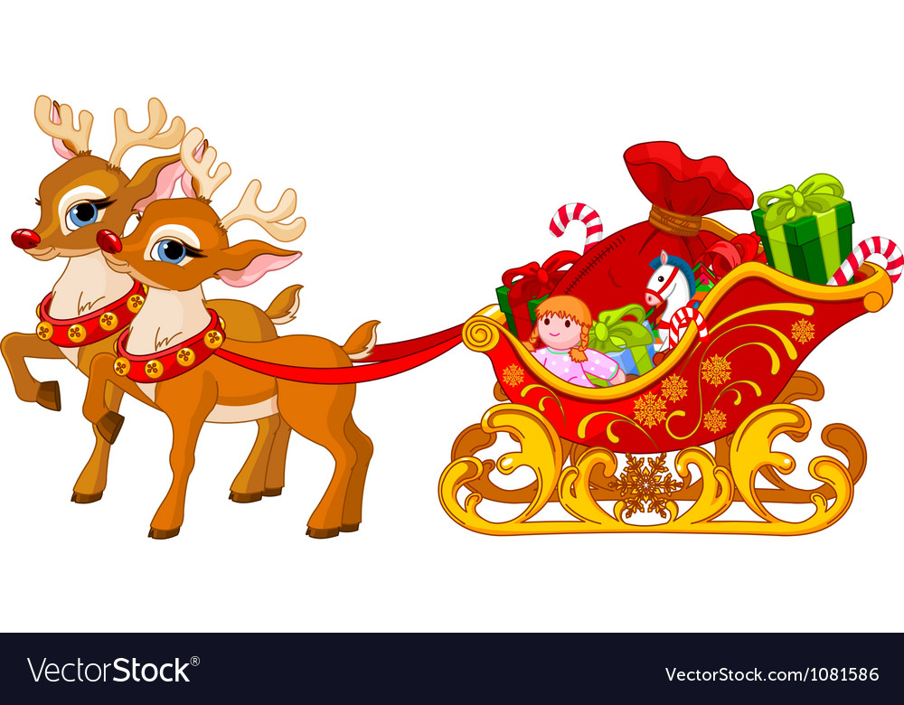 Sleigh of santa claus vector | Price: 3 Credit (USD $3)