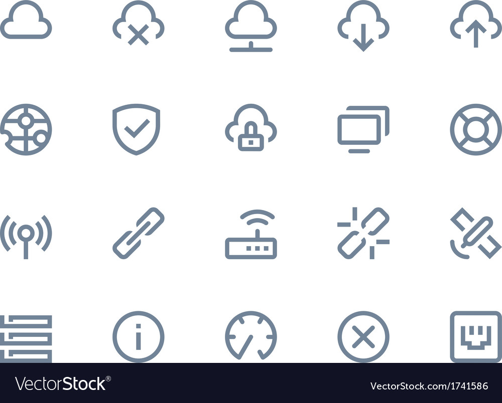Wireless network icons vector | Price: 1 Credit (USD $1)