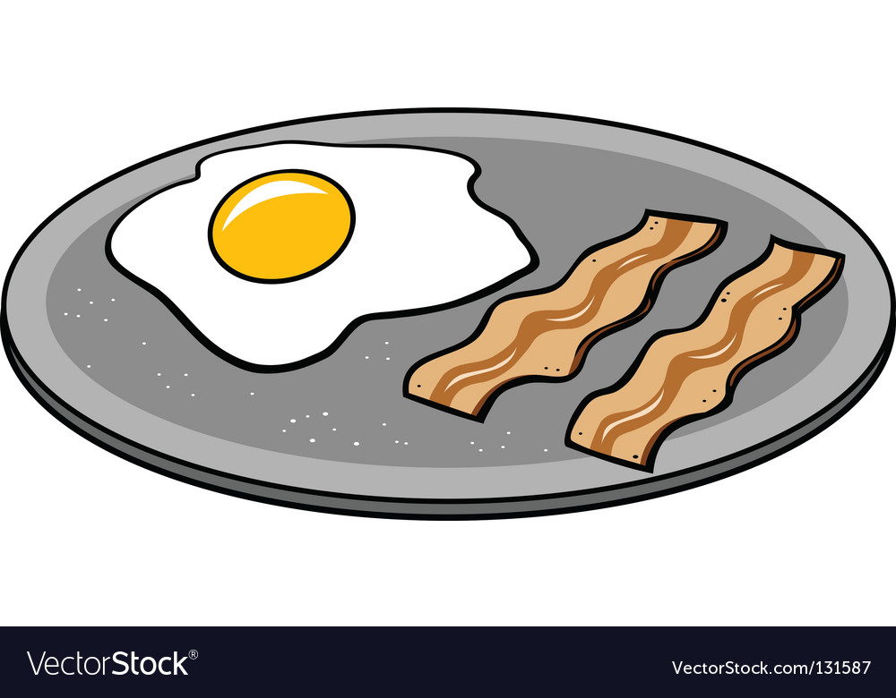 Bacon eggs vector | Price: 1 Credit (USD $1)