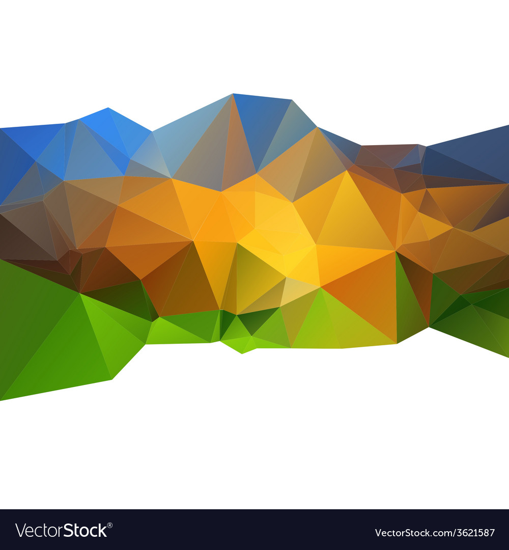 Beautiful abstract background triangle color vector | Price: 1 Credit (USD $1)