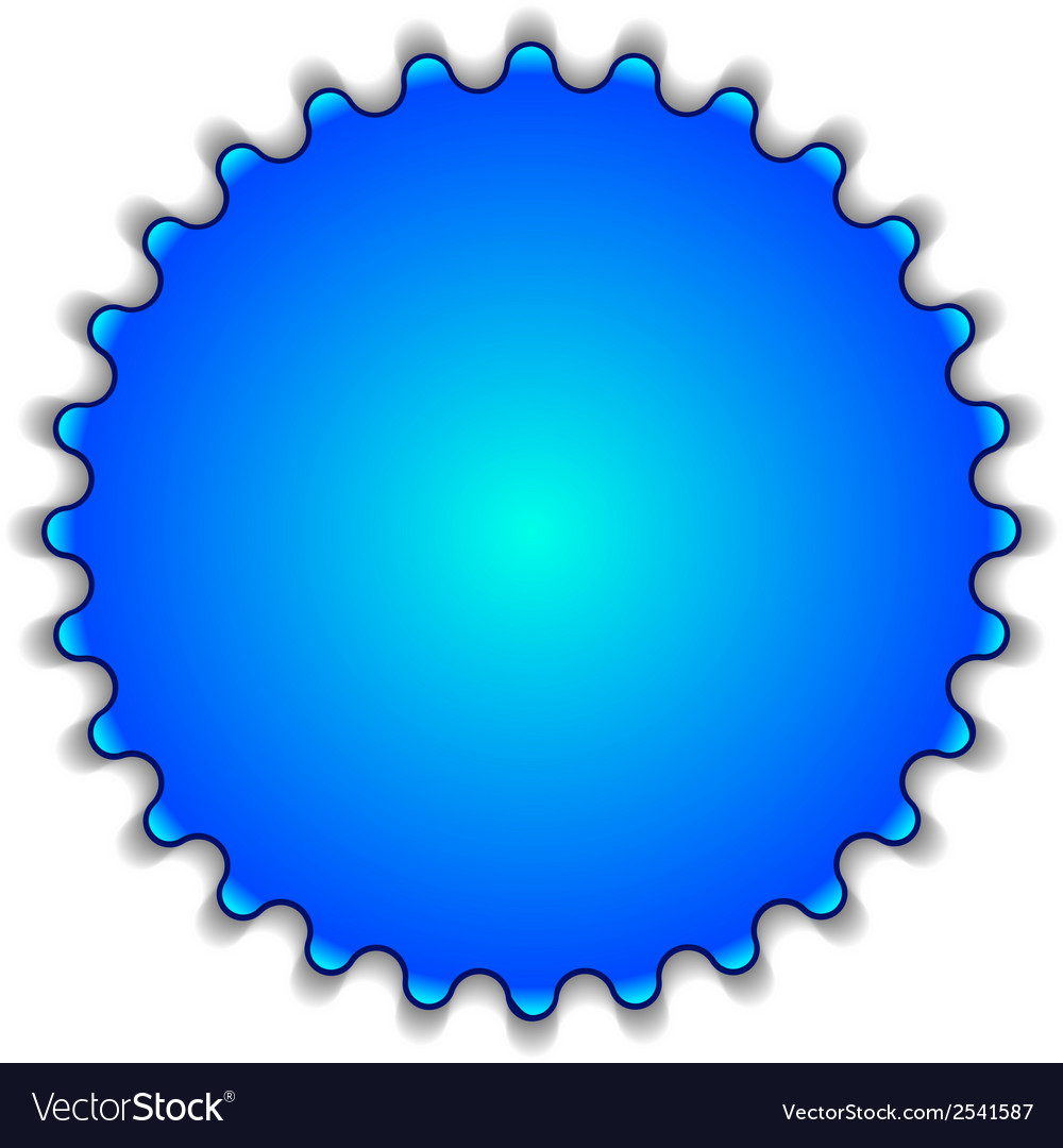 Big blue button labeled 2014 vector | Price: 1 Credit (USD $1)