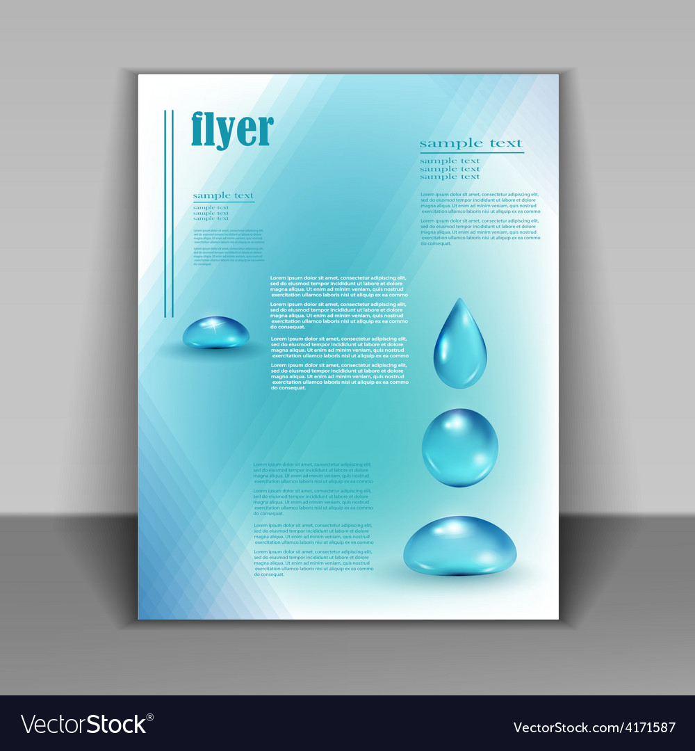 Booklet with water drops vector | Price: 3 Credit (USD $3)