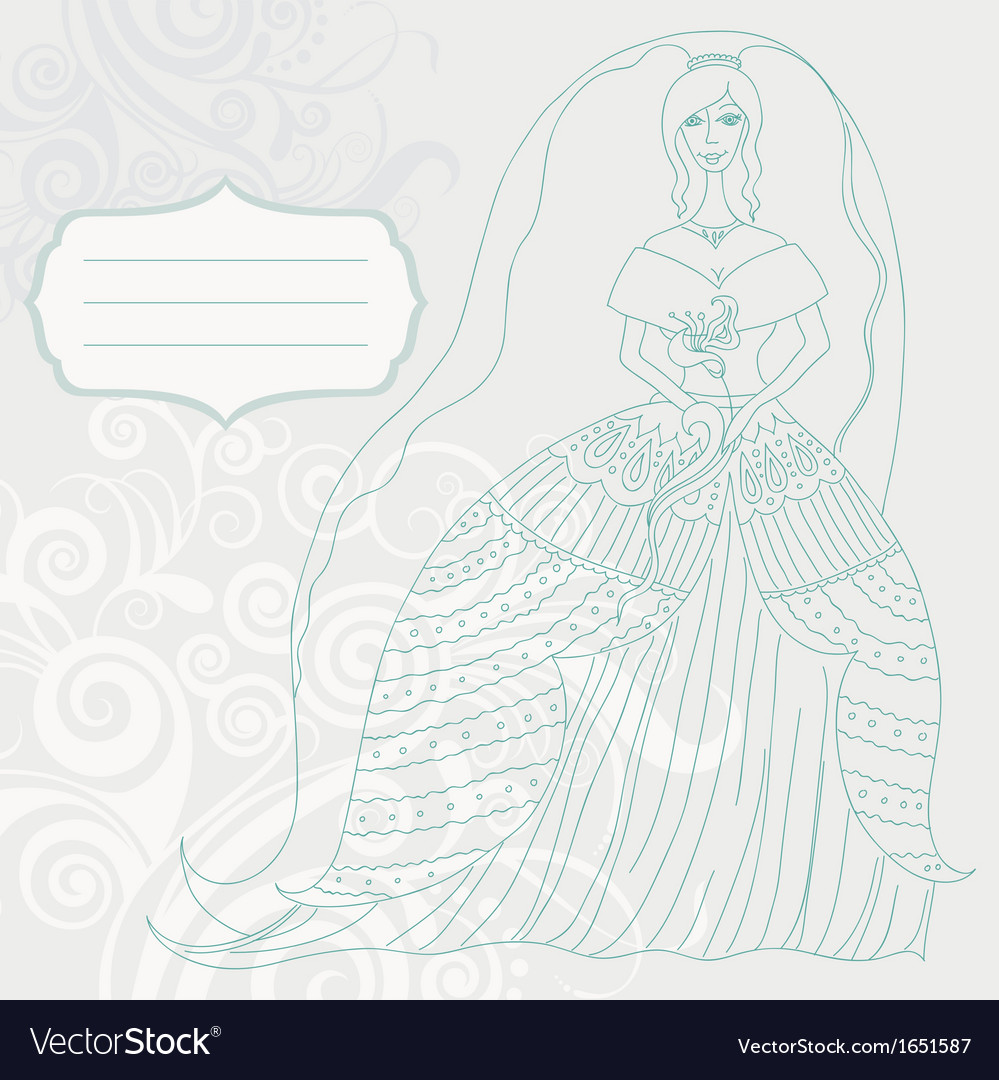 Bride card vector | Price: 1 Credit (USD $1)