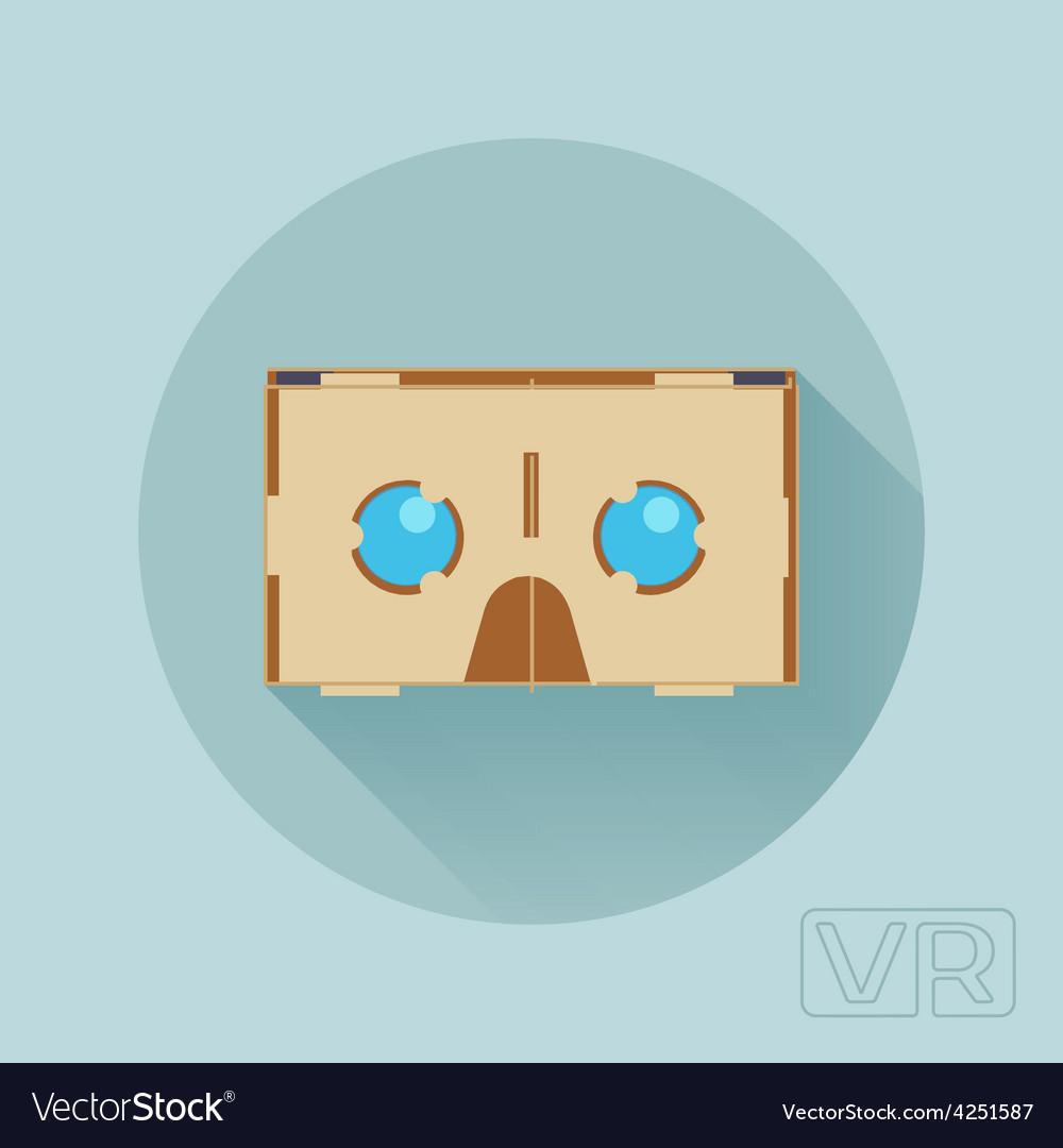 Cardboard virtual reality headset vector | Price: 1 Credit (USD $1)
