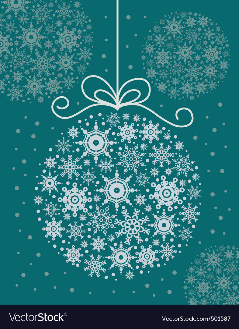 Christmas decorative ball vector | Price: 1 Credit (USD $1)