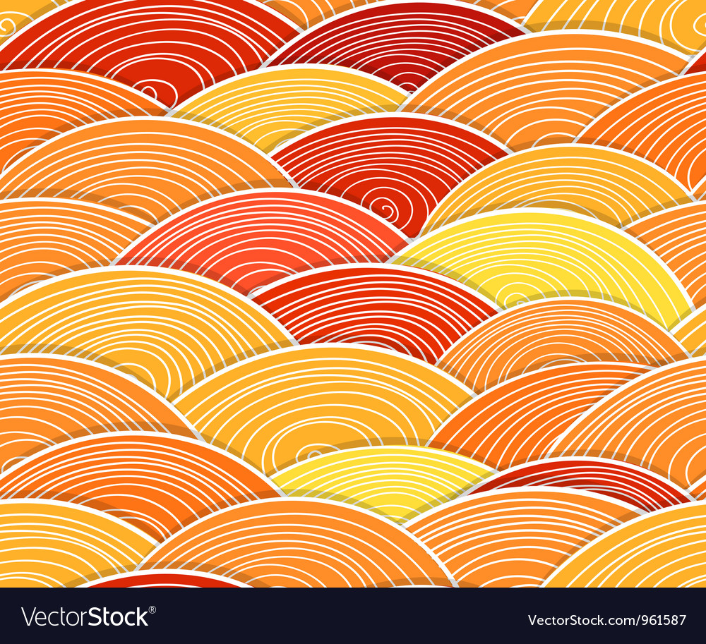 Curled abstract orange waves vector | Price: 1 Credit (USD $1)