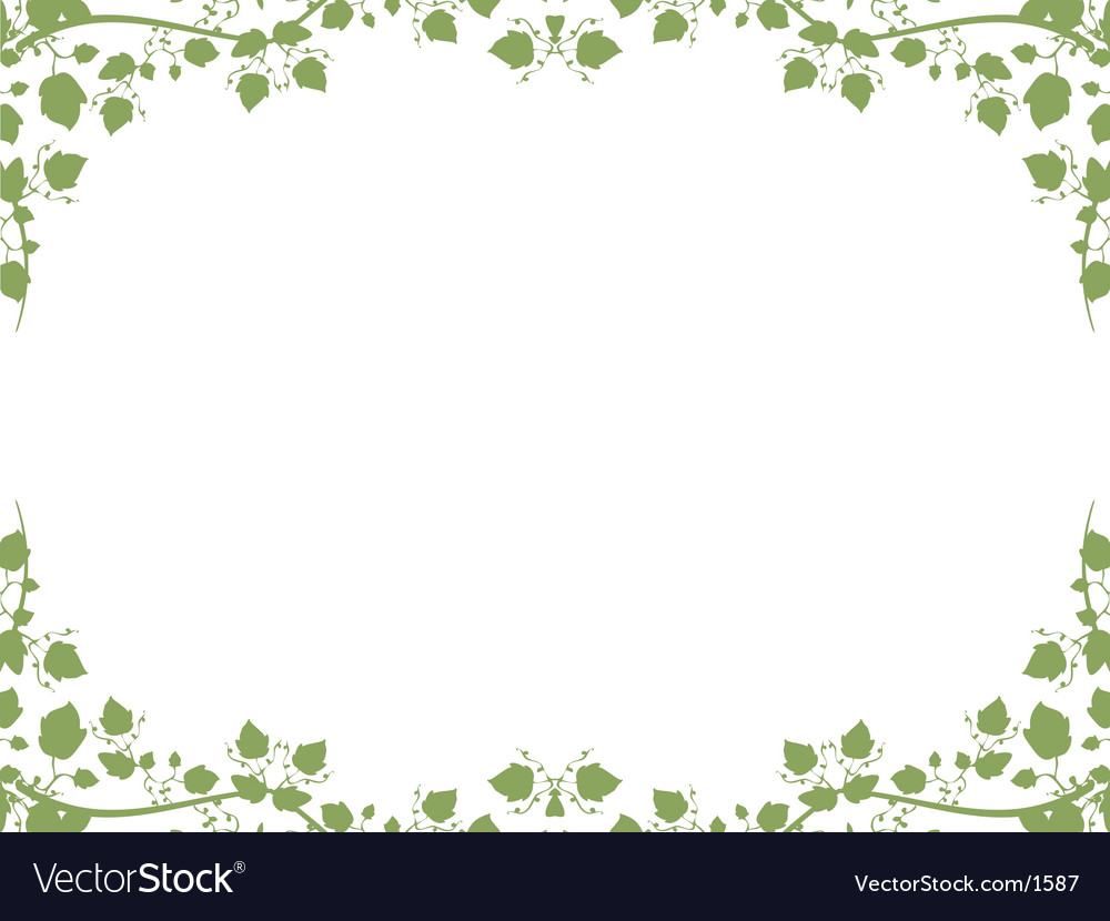 Foliage border vector | Price: 1 Credit (USD $1)