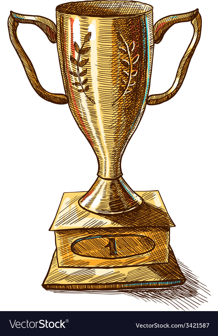 Golden trophy cup vector | Price: 1 Credit (USD $1)