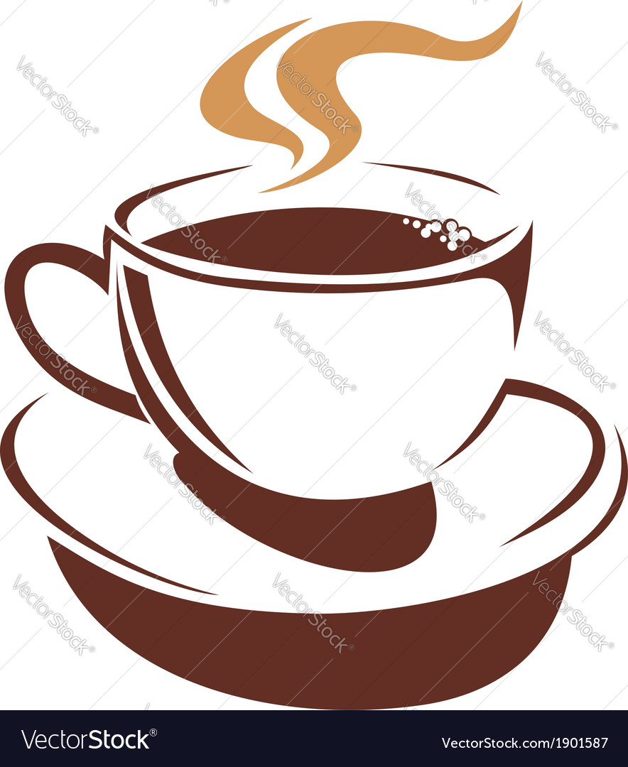 Hot cup of steaming coffee or tea vector | Price: 1 Credit (USD $1)