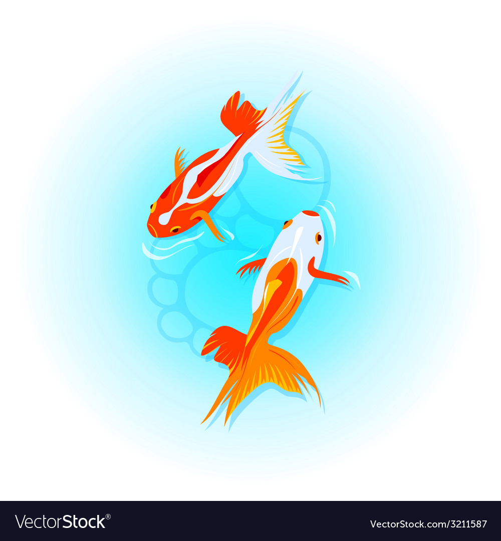 Japanese goldfishes vector | Price: 1 Credit (USD $1)