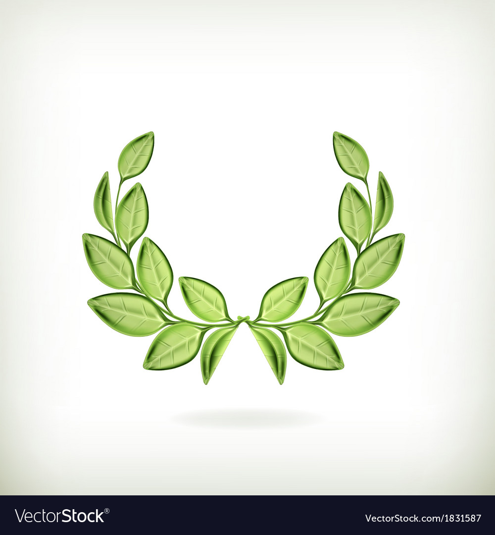 Laurel wreath green award vector | Price: 1 Credit (USD $1)