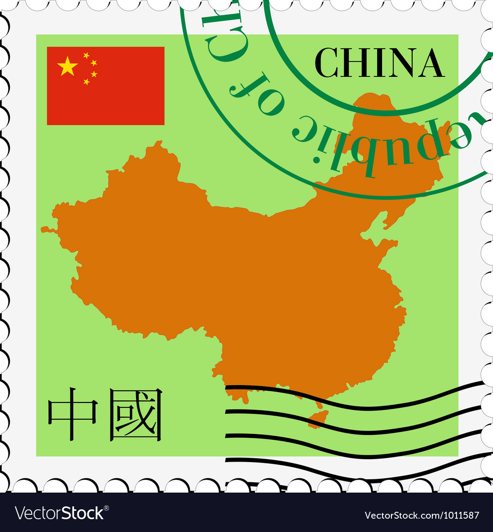 Mail to-from china vector | Price: 1 Credit (USD $1)