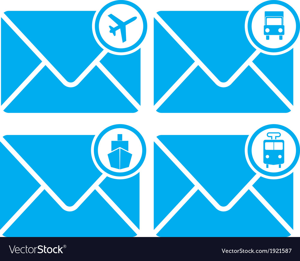 Mail transportation vector | Price: 1 Credit (USD $1)
