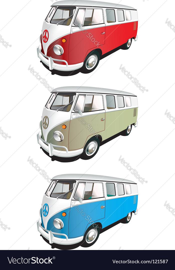 Minibus set vector | Price: 1 Credit (USD $1)