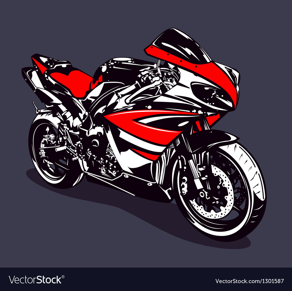 Red sport motorbike vector | Price: 1 Credit (USD $1)
