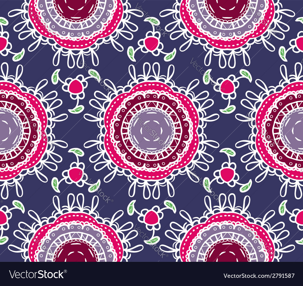 Seamless ornamental pattern vector | Price: 1 Credit (USD $1)