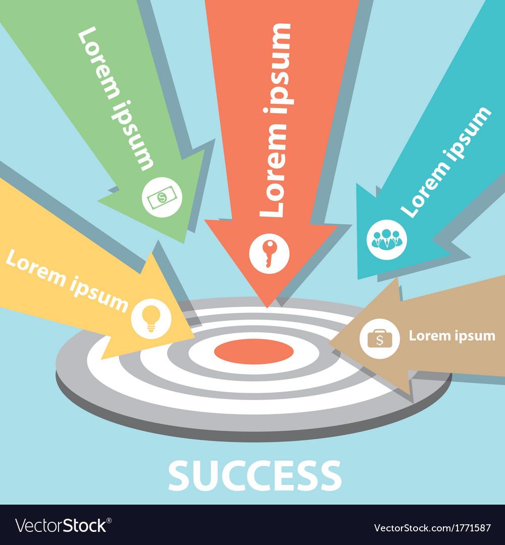 Target arrow success business vector | Price: 1 Credit (USD $1)