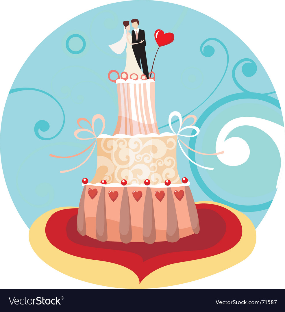 Wedding cake vector | Price: 3 Credit (USD $3)