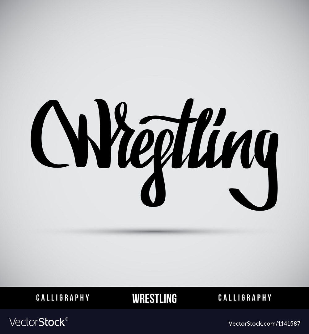 Wrestling hand lettering - handmade calligraphy vector | Price: 1 Credit (USD $1)
