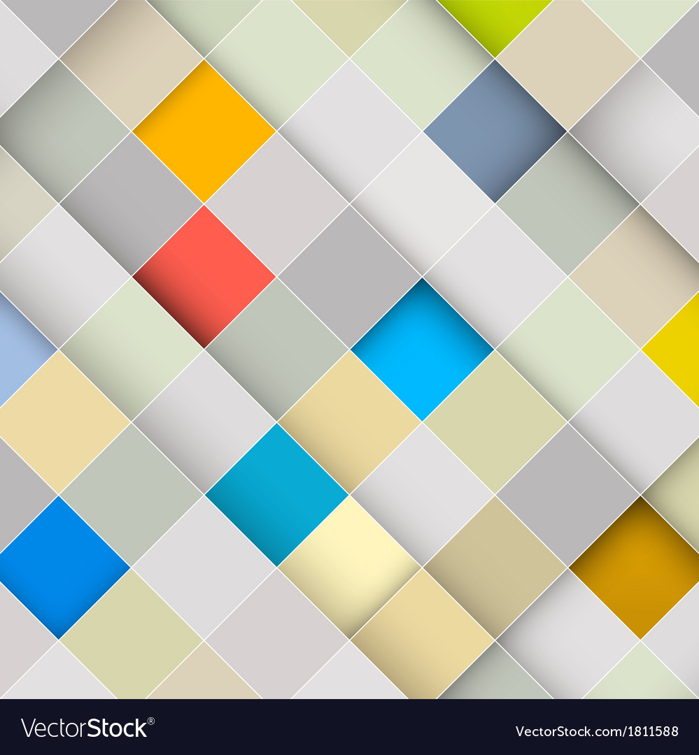 Abstract square retro background vector | Price: 1 Credit (USD $1)
